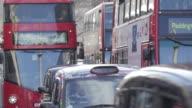 Whitehall Traffic, Viewed from Trafalgar Square, Westminster, London, England, UK