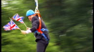 Who takes the credit 182012 / T01081267 Victoria Park EXT Boris Johnson along zipwire gets stuck on zip wire 'get me a ladder' SOT