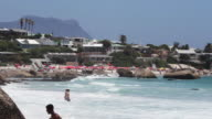 Wide beauty beach shot with tourists