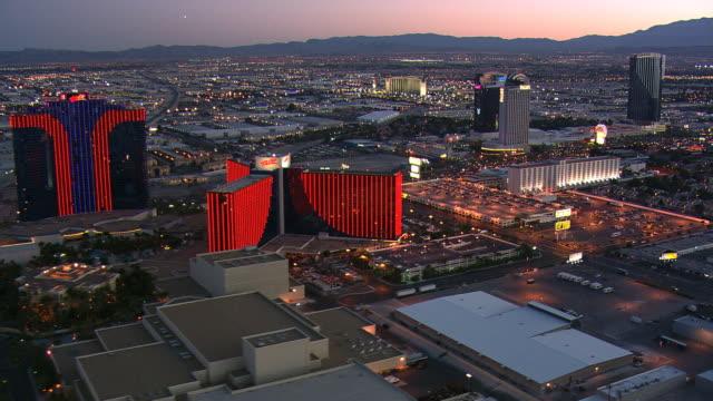 Wide evening view of west Las Vegas