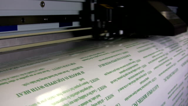 HD: Wide Format Printer Printing Labels