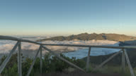 Wide pan from viewpoint above clouds on Madeira