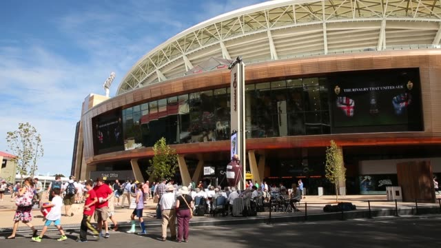 Wide Shot crowds arrive at Adelaide Oval during day three of the Second Ashes Test match between Australia and England at Adelaide Oval on December 7...