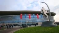 Wide Shot general view of the Wirsol Rhein Neckar Arena prior to the Bundesliga match between 1899 Hoffenheim and Werder Bremen NO