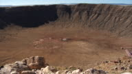 Wide shot meteor crater