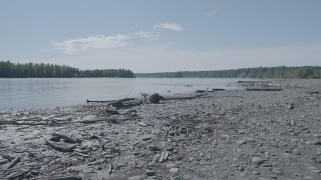 Wide shot of a lake in Trapper Creek