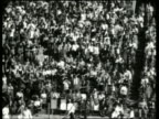 B/W wide shot of audience in football stadium / Mobile AL / NO