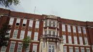 Wide shot of Little Rock Central High School building