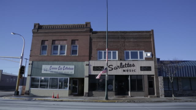 Wide shot of Midwestern America Music store / Storefront