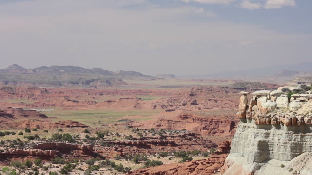 Wide Shot of mountains and valley in Castle Valley, Utah