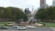 Wide shot of Philadelphia City Hall in Philadelphia United States