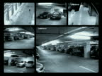 Wide shot surveillance CAMs in parking garage