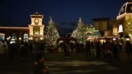 Wide view of large christmas tree at the Everland Resort in Yongin Gyeonggi Province South Korea on Friday Nov 14 Close view of illuminated christmas...