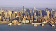 Wide view of midtown Manhattan