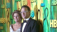 HD Wife actress Rita Wilson Actor producer Tom Hanks holding Emmy Award posing together on red carpet at Pacific Design Center making way down