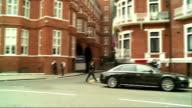 WikiLeaks founder Julian Assange still in Ecuador Embassy GVs Embassy ENGLAND London Knightsbridge EXT GVs Ecuador Embassy / Police officer on guard...