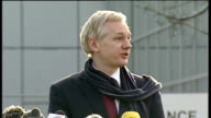 WikiLeaks founder to be extradited to Sweden Julian Assange statement Julian Assange statement continued SOT three people are day are being...
