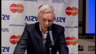 WikiLeaks suspends publication of classified files due to 'financial blockade' Julian Assange press conference Julian Assange press conference SOT In...