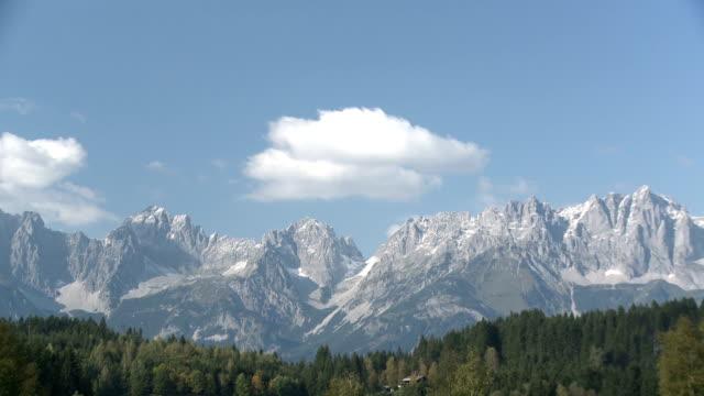 Wilder Kaiser Mountains with Schwarzsee in foreground