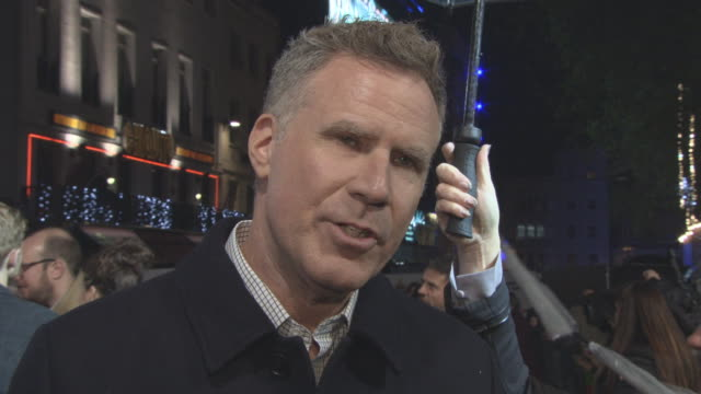 INTERVIEW Will Ferrell on the film working with Mel Gibson will he make a Christmas film career at 'Daddy's Home 2' Premiere at Vue West End on...