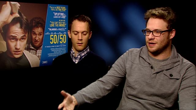 Will Reiser and Seth Rogen on how the movie developed from a comedy to a drama at the 50/50 Interview at London England