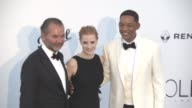 Will Smith Jessica Chastain Remo Ruffini at amfAR Gala Cannes 2017 at Hotel du CapEdenRoc on May 25 2017 in Cap d'Antibes France