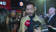 INTERVIEW Will Smith on stealing being a parent Margot Robbie and Justin Bieber at Focus UK Premiere on 11th February 2015 in London England
