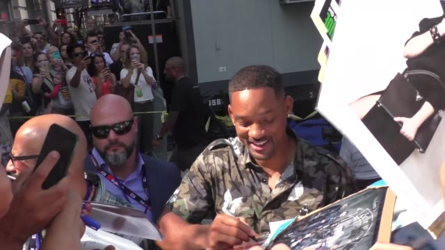 Will Smith with fans at the 'Conan' studio at San Diego ComicCon International at Celebrity Sightings at ComicCon on July 23 2016 in San Diego...
