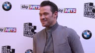 Will Young arriving and posing on red carpet Sky Arts Awards Honouring Best of Theatre Film Music and Art take place at the South Bank Centre in...