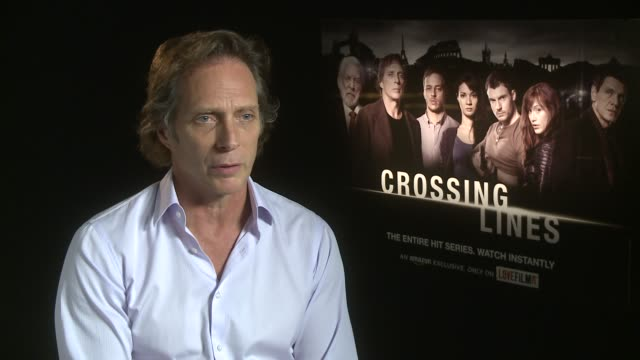 INTERVIEW William Fichtner on the future of TV on demand TV how exciting it is at 'Crossing Lines' Interviews at Corinthia Hotel London on October 21...