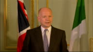 William Hague and Giulio Terzi press conference ENGLAND London Westminster Foreign and Commonwealth Office PHOTOGRAPHY** William Hague MP press...
