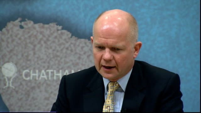 William Hague speech at Chatham House on BritishIsraeli relations Hague Q A session SOT re what practical things can Britain do in Middle East...