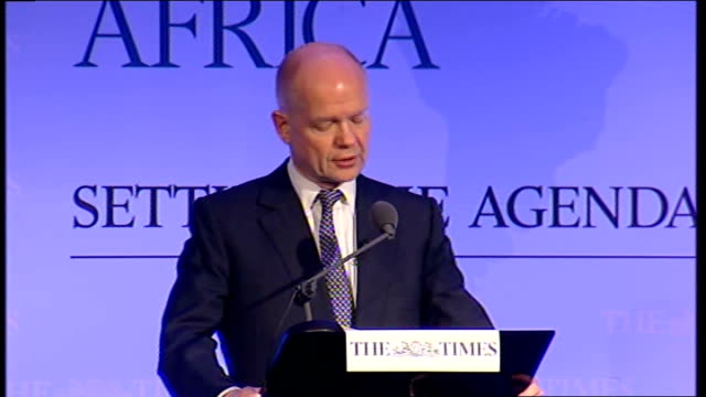 William Hague speech at The Times CEO Summit Africa Hague speech SOT We are only in the early stages of what is happening in North Africa and the...