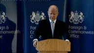 William Hague speech to the Foreign and Commonwealth Office Hague speech SOT As Gaddafi's forces closed in on the trapped residents of Benghazi in...