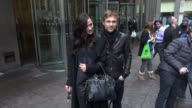 William Moseley and Alexandra Park leaving SiriusXM Satellite Radio sign and pose for photos with fans in Celebrity Sightings in New York