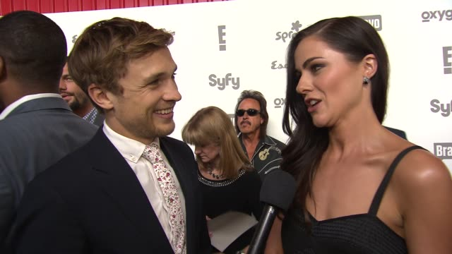INTERVIEW William Moseley and Alexandra Park talk about The Royals on E at NBCUniversal Cable Entertainment Upfront 2015 at The Jacob K Javits...