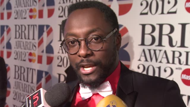 INTERVIEW william on the Brits Adele Whitney Houston charities The Voice and more at the Brit Awards 2012 Red Carpet at the O2 Arena London UK on...