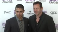 Wilmer Valderrama and Jason Isaacs at the 2012 Film Independent Spirit Awards Arrivals on 2/25/12 in Santa Monica CA United States