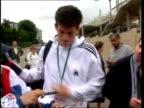 Women's semifinals Jana Novotna beat Martina Hingis ITN Tim Henman along to Wimbledon entrance signing autographs as comments on Sampras as practice...