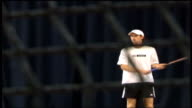 Andy Murray withdraws with wrist injury R29120604 QATAR Doha INT Murray in training session ENGLAND London Raynes Park EXT Andy Murray interview SOT...