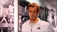 Andy Murray interview ENGLAND London Wimbledon General views of Judy Murray along / Andy Murray SOT / general views of Murray greeting family members