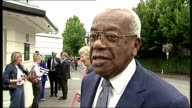 Arrivals ENGLAND London Wimbledon All England Lawn Tennis Club EXT Sir Trevor Macdonald along and speaking to news crew about Andy Murray's chances...