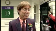 Arrivals Sir Cliff Richard comments on Andy Murray's chances signs autographs and into Wimbledon SOT