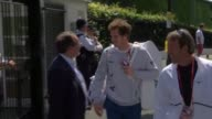 Andy Murray arrival ENGLAND London Wimbeldon EXT Andy Murray along and takes photos with fans