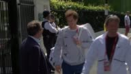 Andy Murray ready to defend title R07071610 772016 Andy Murray arriving and through gates with bags