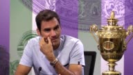 Wimbledon champion Roger Federer speaking after Sunday's win over Marin Cilic The Swiss player beat Cilic to win the championship for a record...