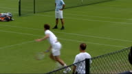 general views Centre Court and Andy Murray More of Andy Murray practicing / wide shots of Wimbledon practice courts