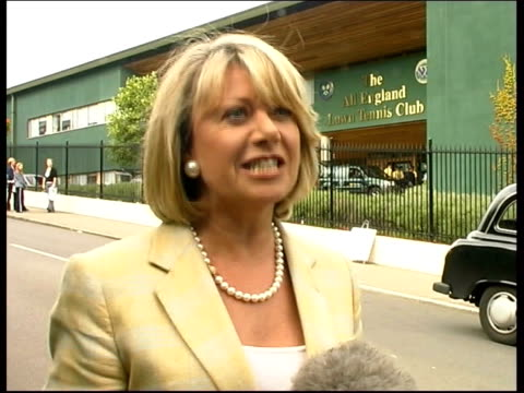 Wimbledon Day One Elaine Paige interviewed SOT He is doing us proud and we need to have a hero in this country in sport Dickie Bird interviewed SOT...