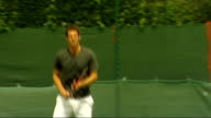 Draw announced ENGLAND London Wimbledon EXT British number one tennis player Andy Murray practising