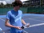 Jamie Murray interview following Mixed Doubles victory / Judy Murray interview Various of Jamie Murray posing with Wimbledon Mixed Doubles trophy /...